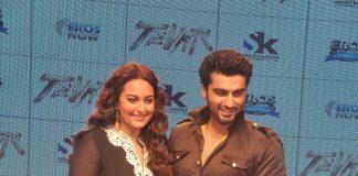 Sonakshi Sinha and Arjun Kapoor launch Tevar trailer