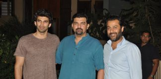 Sidharth Roy Kapur and Aditya Roy Kapur at Vidya Balan's private party
