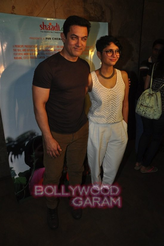 Aamir khan and kiran rao documentary screening -0