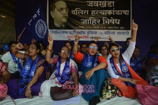 rakhi sawant hunger strike-3