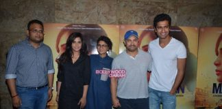 Aamir Khan and Kiran Rao appreciate Masaan at screening event