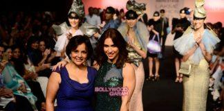 Lakme Fashion Week Winter Festive 2015  Photos – Lauren Gottlieb walks for Baggit's new Autumn Winter collection