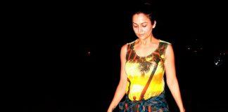Amrita Arora in workout mood at Bandra