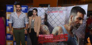 Aftab Shivdasani with wife Nin Dusanj at Brothers screening