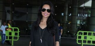Esha Gupta stuns in black at airport – Photos