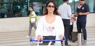 Stylish Ileana D'Cruz at Mumbai airport