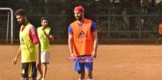 Ranbir Kapoor and Raj Kundra gear up for upcoming soccer match – Photos