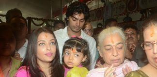 Aishwarya Rai and Vidya Balan offer prayers at Siddhivinayak Temple