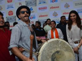 Deepika Padukone and Ranveer Singh launch Bajirao Mastani song Gajanana – Photos