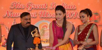 Gauhar Khan, Asha Negi and Amruta Khanvilkar at Country Club Navratri press meet – Photos