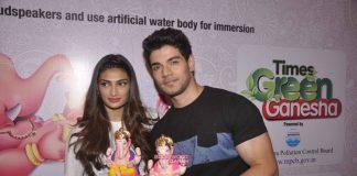 Sooraj Pancholi and Athiya Shetty encourage eco-friendly Ganesh festival