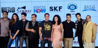 Athiya Shetty and Sooraj Pancholi perform at Hero music launch
