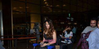 Ileana D'Cruz in black outfit at airport