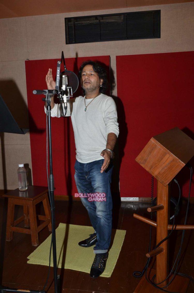 kailash kher recording3