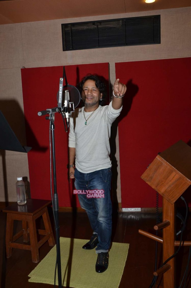 kailash kher recording5