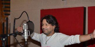 Kailash Kher at song recording