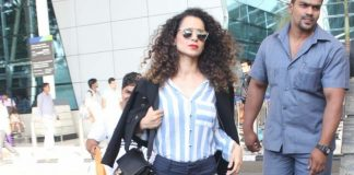 Stylish Kangana Ranaut and Elli Avram at airport