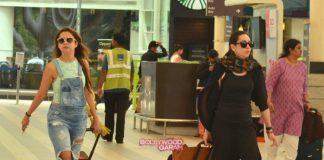 Malaika Arora, Karisma Kapoor and Amrita Arora return from Kareena Kapoor's birthday bash