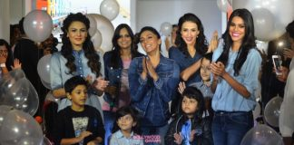 Tara Sharma, Shweta Salve and models walk with children to unveil Pepe's new collection