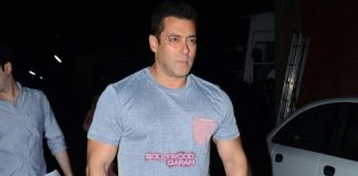 Salman Khan after a long and tiring day at work