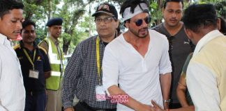 Shahrukh Khan and Kajol  leave for Hyderabad to shoot for Dilwale