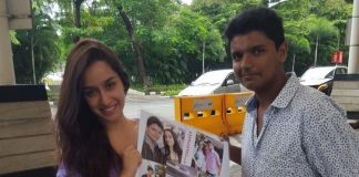 Shraddha Kapoor poses with her biggest fan