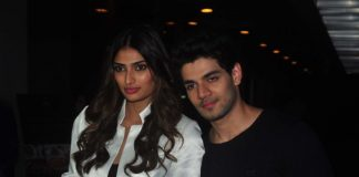 Sooraj Pancholi and Athiya Shetty in celebratory mood