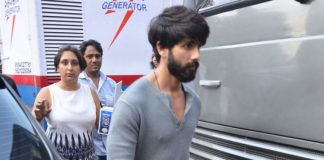 Alia Bhatt and Shahid Kapoor at Mehboob Studios to promote Shaandaar