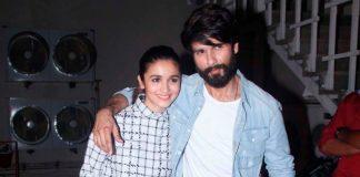 Arjun Kapoor, Shahid Kapoor and Alia Bhatt at Mehboob Studios