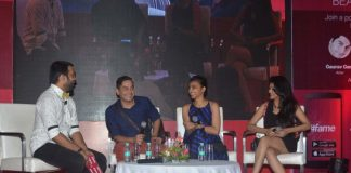 Gaurav Gera and Radhika Apte at Famestars launch