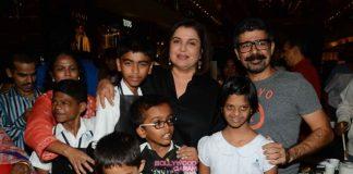 Farah Khan with St Regis NGO children
