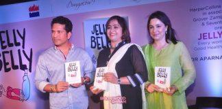 Sachin Tendulkar and Anjali Tendulkar launch Jelly Belly book