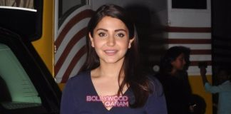 Anushka Sharma smiles for media at promotional shoot