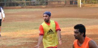 Ranbir Kapoor, Siddharth Malhotra and Abhishek Bachchan catch up playing football