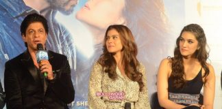 Shahrukh Khan, Kajol, Varun Dhawan and Kriti Sanon launch song Gerua from Dilwale