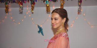 Sana Khan stuns at Diwali shoot
