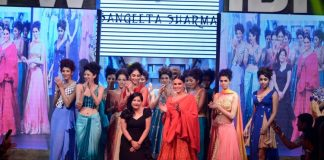 Gionee India Beach Fashion Week Photos –  Neha Dhupia walks the ramp for Sangeetha Sharma