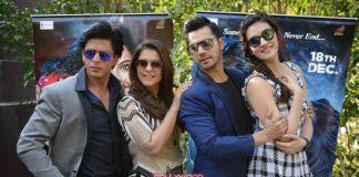 Shahrukh Khan, Varun Dhawan and Kajol at New Delhi Dilwale promotions