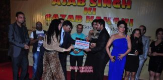 Shreyas Talpade and Rakhi Sawant at Ajab Singh Ki Gajab Kahani launch event