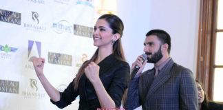 Ranveer Singh and Deepika Padukone at Bajirao Mastani press meet – Photos