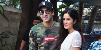 Ranbir Kapoor and Katrina Kaif arrive together at Christmas brunch