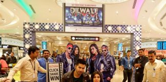 Dilwale team at Mumbai Duty Free