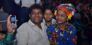 Johnny lever and Bosco Martis join children at Impact Foundation event