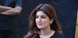Twinkle Khanna at Literature festival with mother and son
