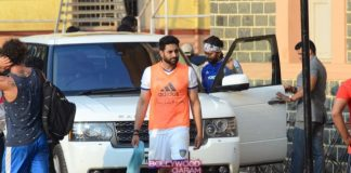 Abhishek Bachchan, Dino Morea and Ranbir Kapoor unwind in a game of soccer