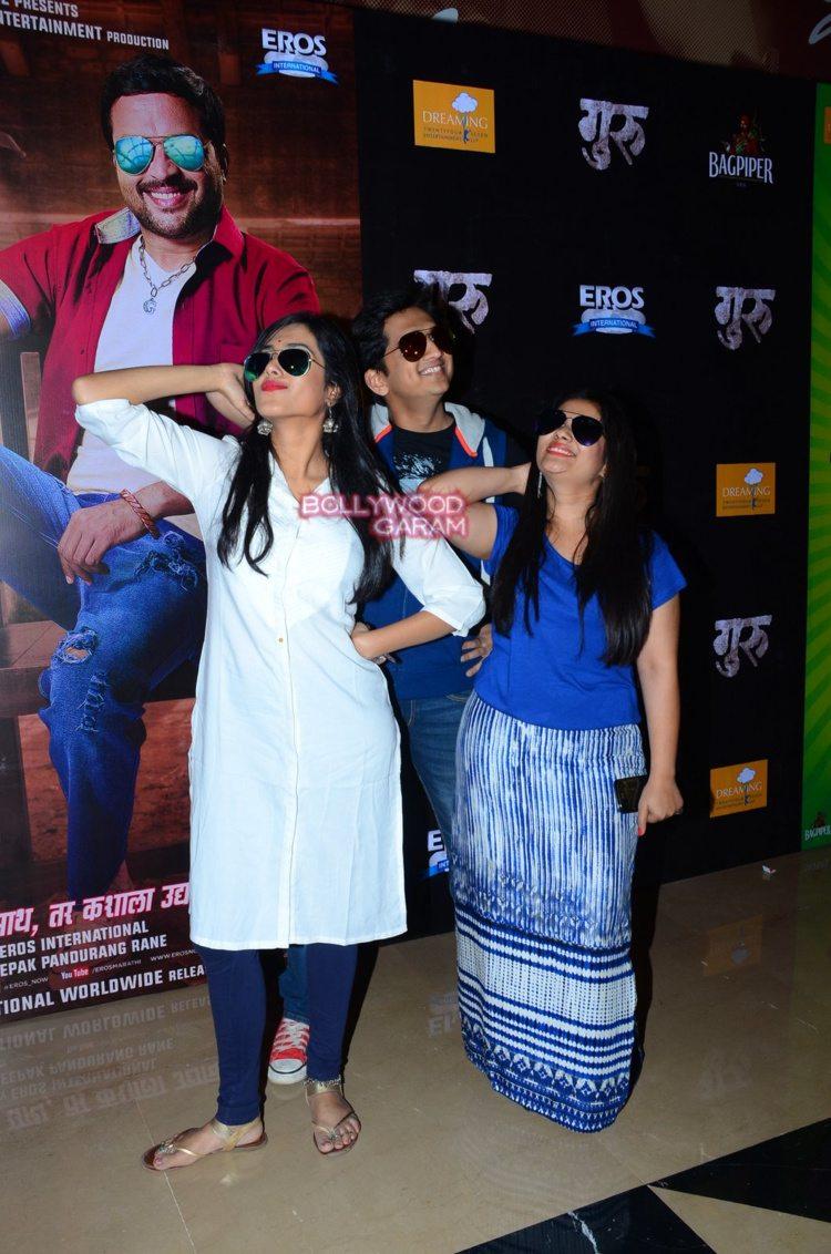 ankush chaudhary and urmila kanitkar at guru premiere