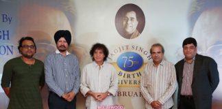 Suresh Wadkar, Zakir Hussain and  Deepak Pandit announce Jagjit Singh Music Festival