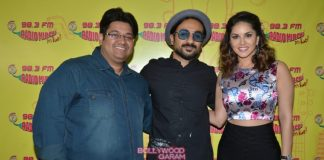 Sunny Leone and Vir Das promote Mastizaade at Radio Mirchi