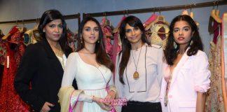 Aditi Rao Hydari visits designers Monica and Karishma