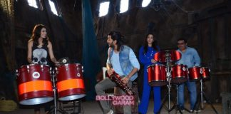 Riteish Deshmukh, Nargis Fakhri and Krishika Lulla at Banjo movie press meet